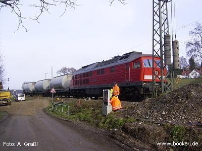 232 510-7 in Langenbach am 19.11.2009, Foto: Graßl